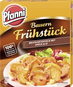 Pfanni Bauernfrühstück Bratkartoffeln mit Speck & Ei  (400 g) - 4000400121868