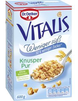 Dr. Oetker Vitalis Knusper Weniger süß Müsli  (600 g) - 4000521662103