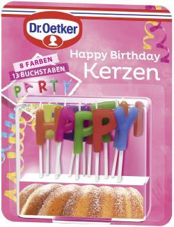 Dr. Oetker Happy Birthday Kerzen  (20 g) - 4000521006501