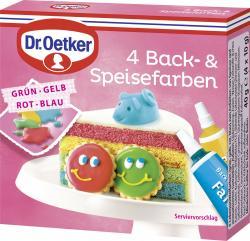 Dr. Oetker 4 Back- & Speisefarben  (40 g) - 4000521006464