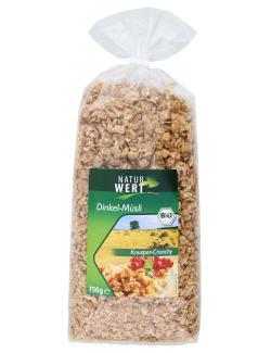 NaturWert Bio Dinkel-Müsli Knusper-Crunchy  (750 g) - 4000446037550