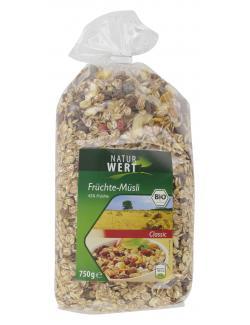 NaturWert Bio Früchte-Müsli classic  (750 g) - 4000446037567