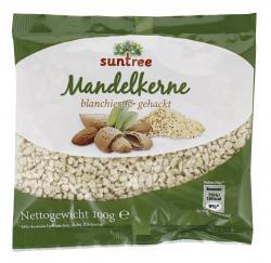 Suntree Kalifornische Mandelkerne gehackt  (100 g) - 4009012006532