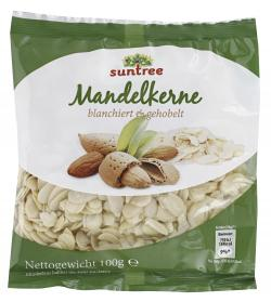 Suntree Kalifornische Mandelkerne gehobelt  (100 g) - 4009012006501
