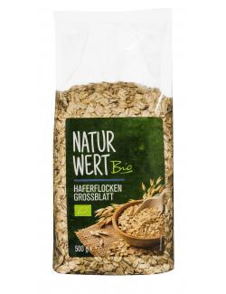 NaturWert Bio Vollkorn Haferflocken grob  (500 g) - 4000950670076