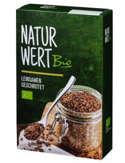 NaturWert Bio Leinsamen geschrotet  (400 g) - 4000950672087