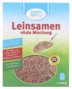 Schapfenmühle Leinsamen vitale Mischung  (200 g) - 4000950073204