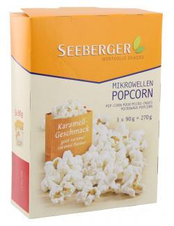 Seeberger Mikrowellen Popcorn Karamell  (3 x 90 g) - 4008258525012