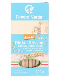 Demeter Campo Verde Dinkel Grissini mit geröstetem Sesam  (100 g) - 4045178003183