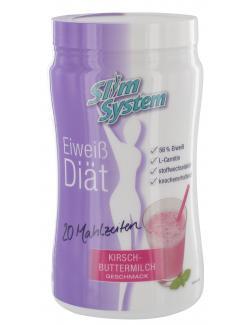Slim System Eiweiß Diät Kirsch-Buttermilch Geschmack  (400 g) - 4260044265926