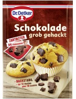Dr. Oetker Schokolade grob gehackt Zartbitter  (100 g) - 4000521014124