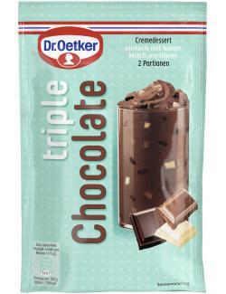 Dr. Oetker Cremedessert Triple Chocolate  (100 g) - 4000521014483