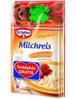 Dr. Oetker Süße Mahlzeit Milchreis Vanille Teddybär gratis  (375 g) - 4000521016753