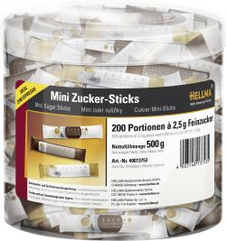 Hellma Mini Zucker-Sticks  (200 x 2,50 g) - 4003148137535