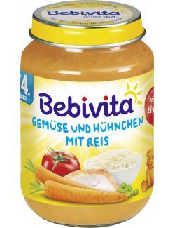 Bebivita Gemüse und Hühnchen mit Reis  (190 g) - 4018852103219