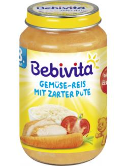 Bebivita Gemüse-Reis mit zarter Pute  (220 g) - 4018852104414