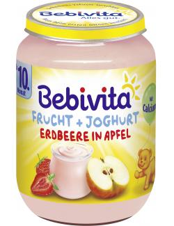Bebivita Frucht & Joghurt Erdbeere in Apfel  (190 g) - 4018852004745