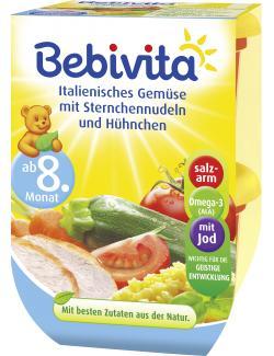 Bebivita Italienisches Gemüse mit Sternchennudeln und Hühnchen  (2 x 220 g) - 4018852009863