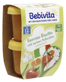 Bebivita Gemüse-Risotto mit zartem Hühnchen  (2 x 250 g) - 4018852009894