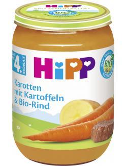 Hipp Karotten mit Kartoffeln & Bio Rind  (190 g) - 4062300025110