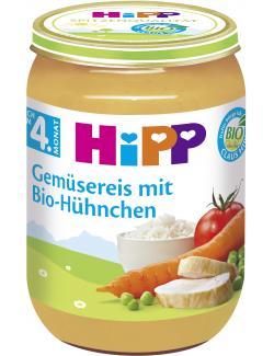 Hipp Gemüsereis mit Bio Hühnchen  (190 g) - 4062300025318