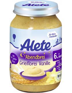 Alete Grießbrei mit Vanille  (190 g) - 4005500080572