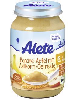 Alete Banane-Apfel mit Vollkorn-Getreide  (190 g) - 4005500085713