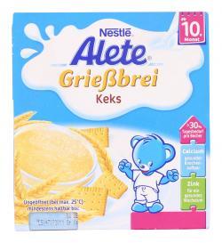 Alete Grießbrei Keks  (4 x 100 g) - 4005500016588