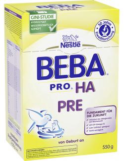Nestlé Beba HA hypoallergene Anfangsnahrung PRE  (550 g) - 7613030590118