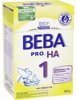 Nestlé Beba HA hypoallergene Anfangsnahrung 1  (550 g) - 7613031512058