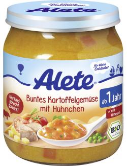 Alete Buntes Kartoffel-Gemüse mit Hühnchen  (250 g) - 4251099601623