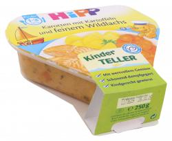 Hipp Karotten mit Kartoffeln und feinem Wildlachs  (250 g) - 4062300166677