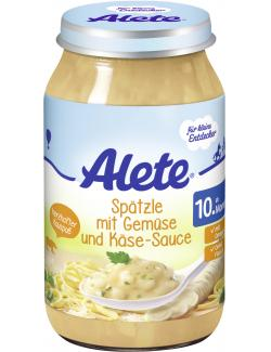 Alete Spätzle mit Gemüse & Käse-Sauce  (220 g) - 4251099600992
