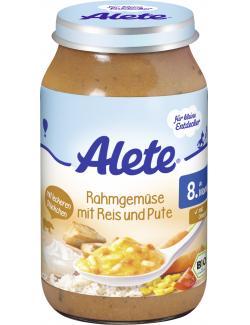 Alete Rahmgemüse mit Reis und Pute  (220 g) - 4251099600701