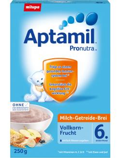 Milupa Aptamil Pronutra Milch-Getreide-Brei Vollkornfrucht  (250 g) - 4008976071693
