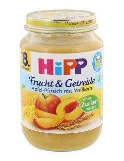 Hipp Frucht & Getreide Apfel-Pfirsich mit Vollkorn  (190 g) - 4062300269910