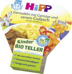 Hipp Bio Eiernudeln mit Gemüse und zartem Gulasch mit Bio Rindfleisch  (250 g) - 4062300166769