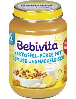 Bebivita Kartoffel-Püree mit Gemüse und Hackfleisch  (190 g) - 4018852015406