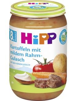 Hipp Kartoffeln mit mildem Rahm-Gulasch  (220 g) - 4062300200388