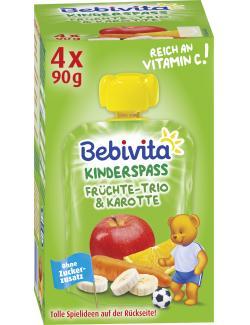 Bebivita Kinder Spaß Früchte-Trio & Karotte plus ACE  (4 x 90 g) - 4018852016830