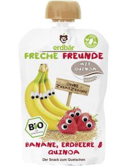 Erdbär Freche Freunde Fruchtmus Banane-Erdbeere & Quinoa  (100 g) - 4260249140400