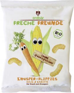 Erdbär Freche Freunde Knusper-Flippies Mais & Karotte  (20 g) - 4260249140363