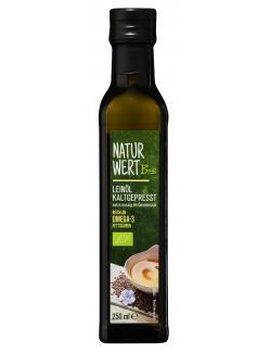 NaturWert Bio Leinöl kaltgepresst  (250 ml) - 4250780309336