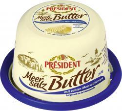 Président Meersalz-Butter mit echten Meersalzkörnern  (250 g) - 3228021000084