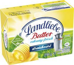 Landliebe Butter rahmig-frisch streichzart  (250 g) - 42022244