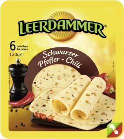 Leerdammer Schwarzer Pfeffer-Chili  (120 g) - 3073781000764