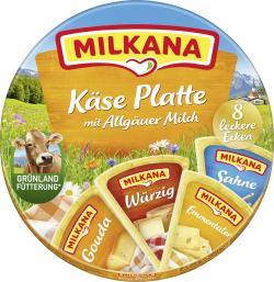 Milkana Käse-Platte Schmelzkäse-Ecken  (8 x 25 g) - 4045357000262
