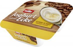 Müller Joghurt mit der Ecke Knusper Schoko Flakes & Joghurt Bananen Geschmack  (150 g) - 40255774