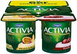 Danone Activia Pfirsich-Maracuja und Kirsche  (6 x 120 g) - 4009700028174