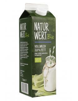 NaturWert Bio Vollmilch 3,8%  (1 l) - 4250780300999